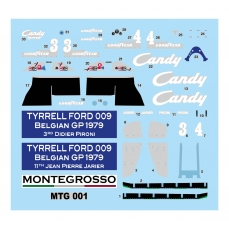 Decals Tyrrell Ford 009