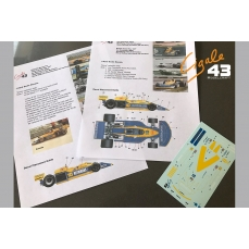 """March Ford 761B/771 """"Rohtmans"""" decals"""