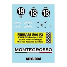 Decals Ferrari 500F2-DKMTG004